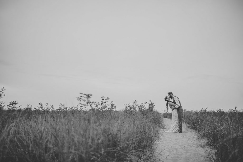 Jonathan + Keli | New Buffalo, MI Private Beach Elopement | Wedding | Toni Jay Photography