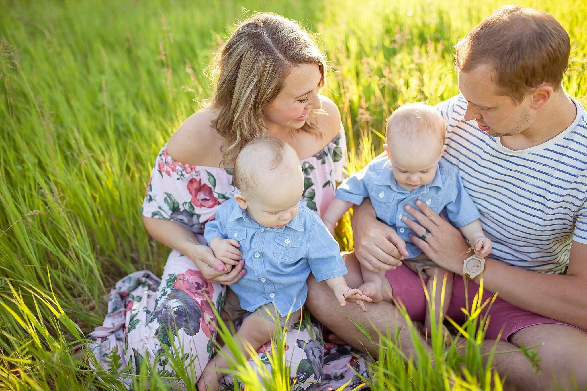 Heckman Family | St. Patrick's Park | South Bend Indiana | One Year Session