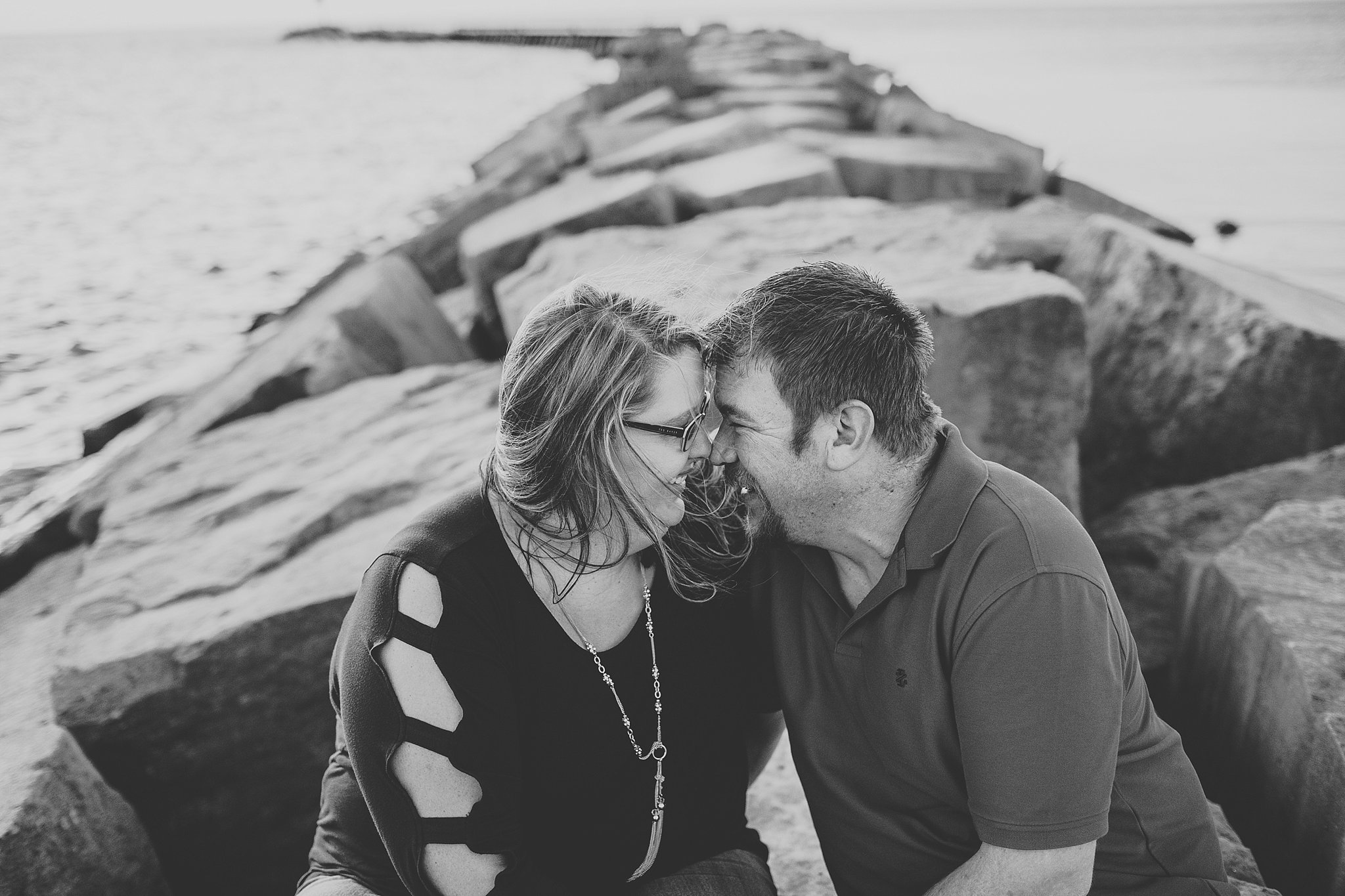 Michelle + Luke | Beach Engagement Session | New Buffalo, Michigan | Toni Jay Photography